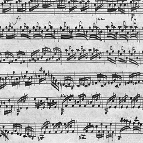 Bach's handwritten sheet music - seamless, greyscale