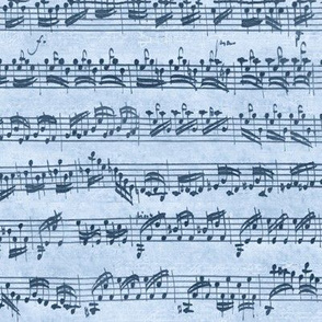Bach's handwritten sheet music - seamless, natural blues