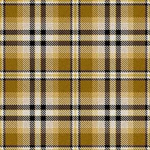 Wheat gold Yellow Black and White_Plaid