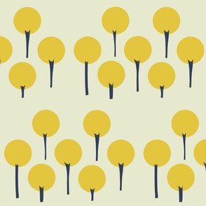Yellow Pop Trees - LARGE