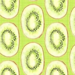 Watercolor Kiwi Lime Green Fruit Stripe Summer Food_Miss Chiff Designs
