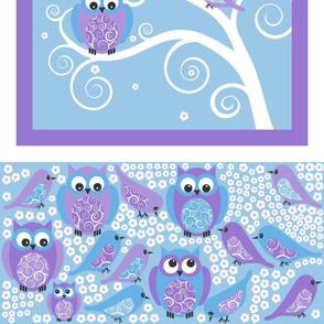 Owl Window Decal plus Birds