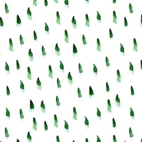 Green brush prints