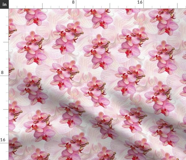 Fabric By The Yard Pink Orchid Painted