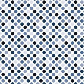 dots classic blue, medium scale