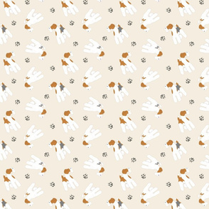 Tiny Wire Fox Terriers - tan