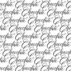 17-1AE Chocolate candy words calligraphy handwriting text font black and white_Miss Chiff Designs