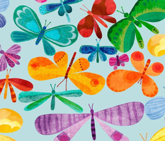 Whimsical Watercolour Butterfly Whirl