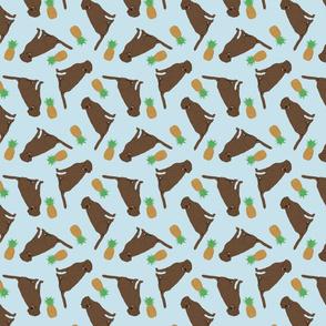 Tiny Chocolate Labrador Retrievers - pineapples