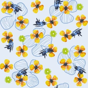 Bee Bloomers  - Blue