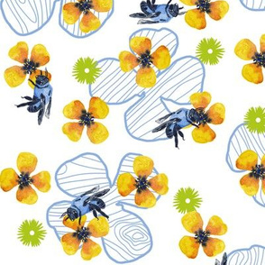 Bee Bloomers  - White