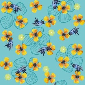 Bee Bloomers  - Turquoise