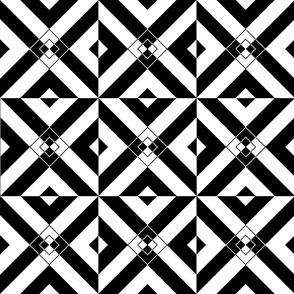 Black & White Diamond Illusion
