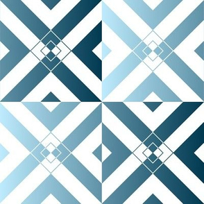 Blue Grey Diamond Illusion