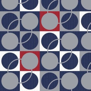 Blue and gray circles – small scale