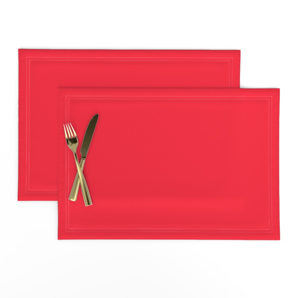 Lamona Cloth Placemats featuring Strawberry Red Solid by ms_hey_textildesign