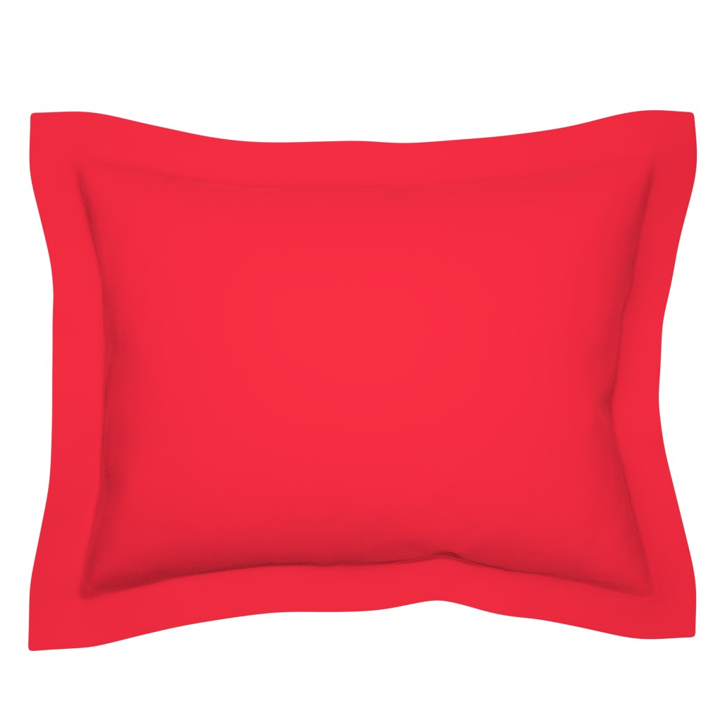 Sebright Pillow Sham featuring Strawberry Red Solid by ms_hey_textildesign