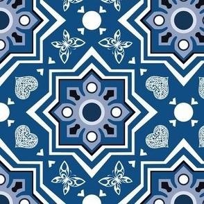 spanish tiles classic blue