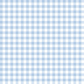 "foggy morning pale blue gingham, 1/4"" check"