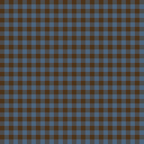 evening blue sky and brown earth gingham