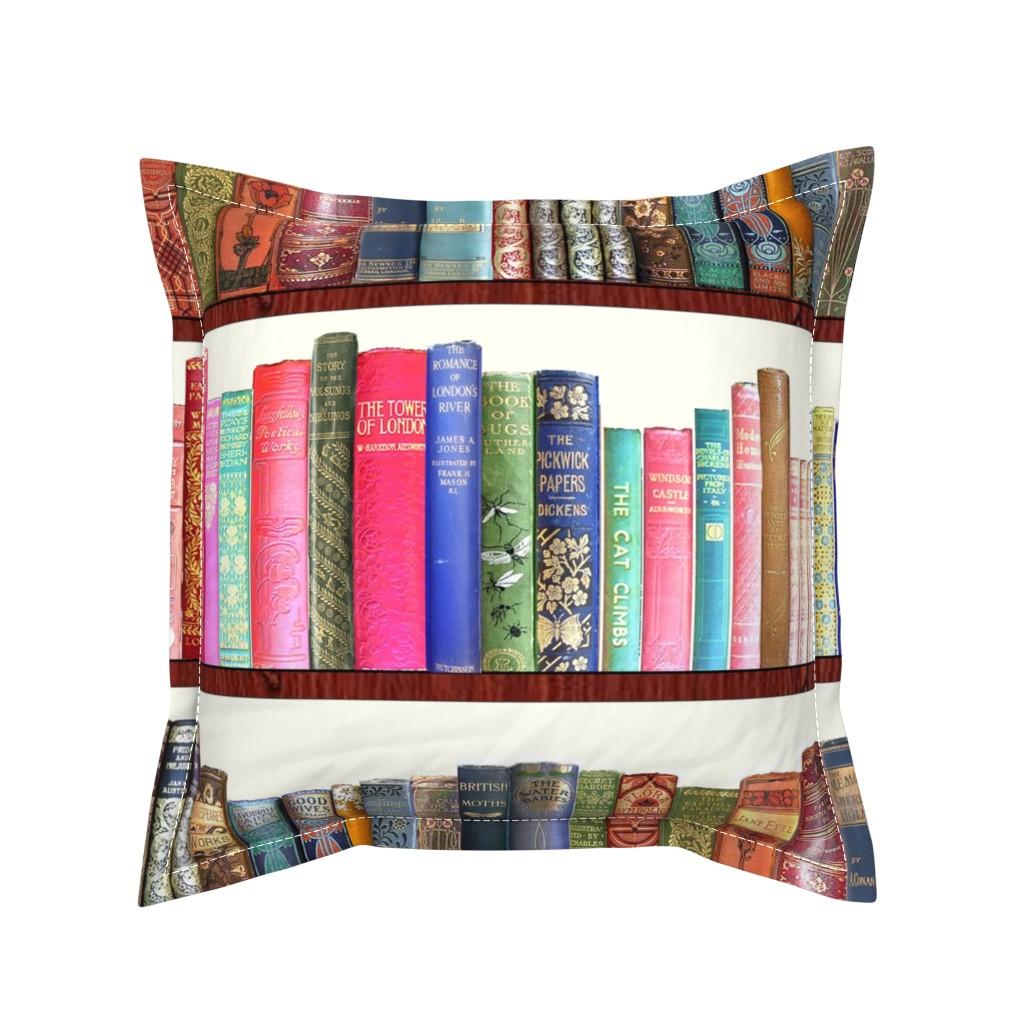 Serama Throw Pillow featuring Antique books /Jane Austen & English Authors by magentarosedesigns