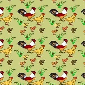 ChickenFamilyGrayGreen