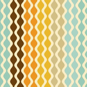 Falling Waves Seamless Repeating Pattern on Light Blue