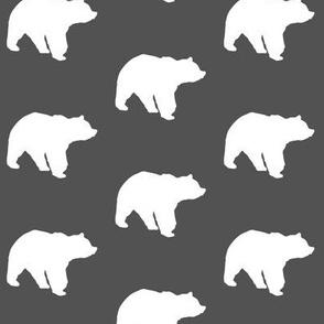 bears on charcoal
