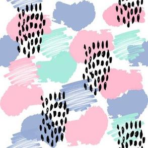 abstract painterly nursery modern confetti fabric