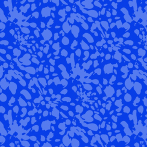 17-13W Blue and white painterly abstract floral botanical_ Miss Chiff Designs