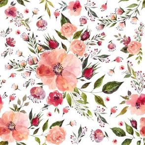 """10.5"""" Floral Rhapsody / White"""