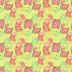 Fat Watermelon Birds