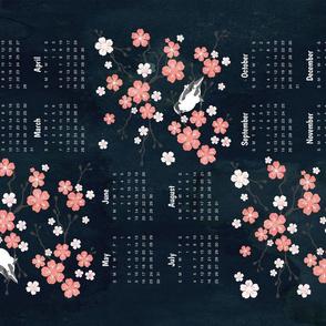 Japanese Cherry Blossom Tea Towel