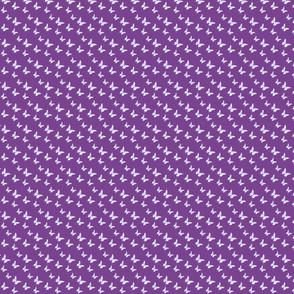 Tiny butterflies, multicoloured on plum purple || shirt top blouse night gown woman dress fun trendy man men girl kid women