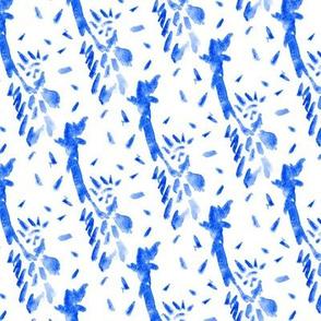 Patriot July 4th USA || New York City Indigo Blue White Boho Patriotic _Miss Chiff Designs