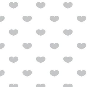 Bed of Hearts (White & Gray) by finka studio