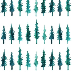 Watercolor Pine Trees (large)