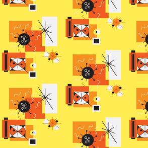 retro fireworks orange/yellow