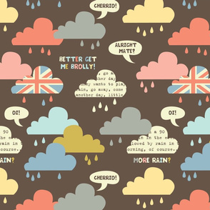 rainy london clouds