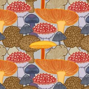 Mushroom Clusters (grey)