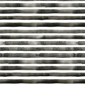 Charcoal Watercolor Stripes