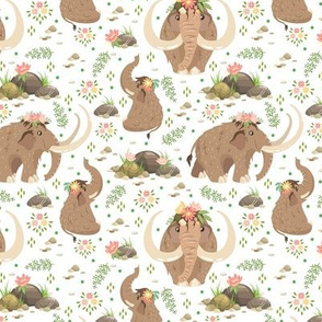 Mammoths white pattern