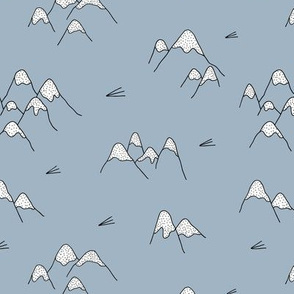 Japanese mount fuji woodland geometric nature asian prints blue
