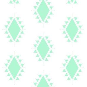 mint geometric aztec triangles
