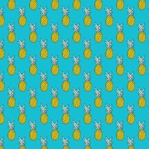 Hot summer pineapple ocean blue XS