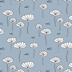 Japanese lotus flower garden sweet minimal botanical japan designs blue