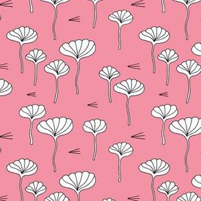 Japanese lotus flower garden sweet minimal botanical japan designs pink