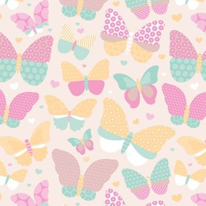 Summer butterfly garden sweet botanical insects for girls pastel