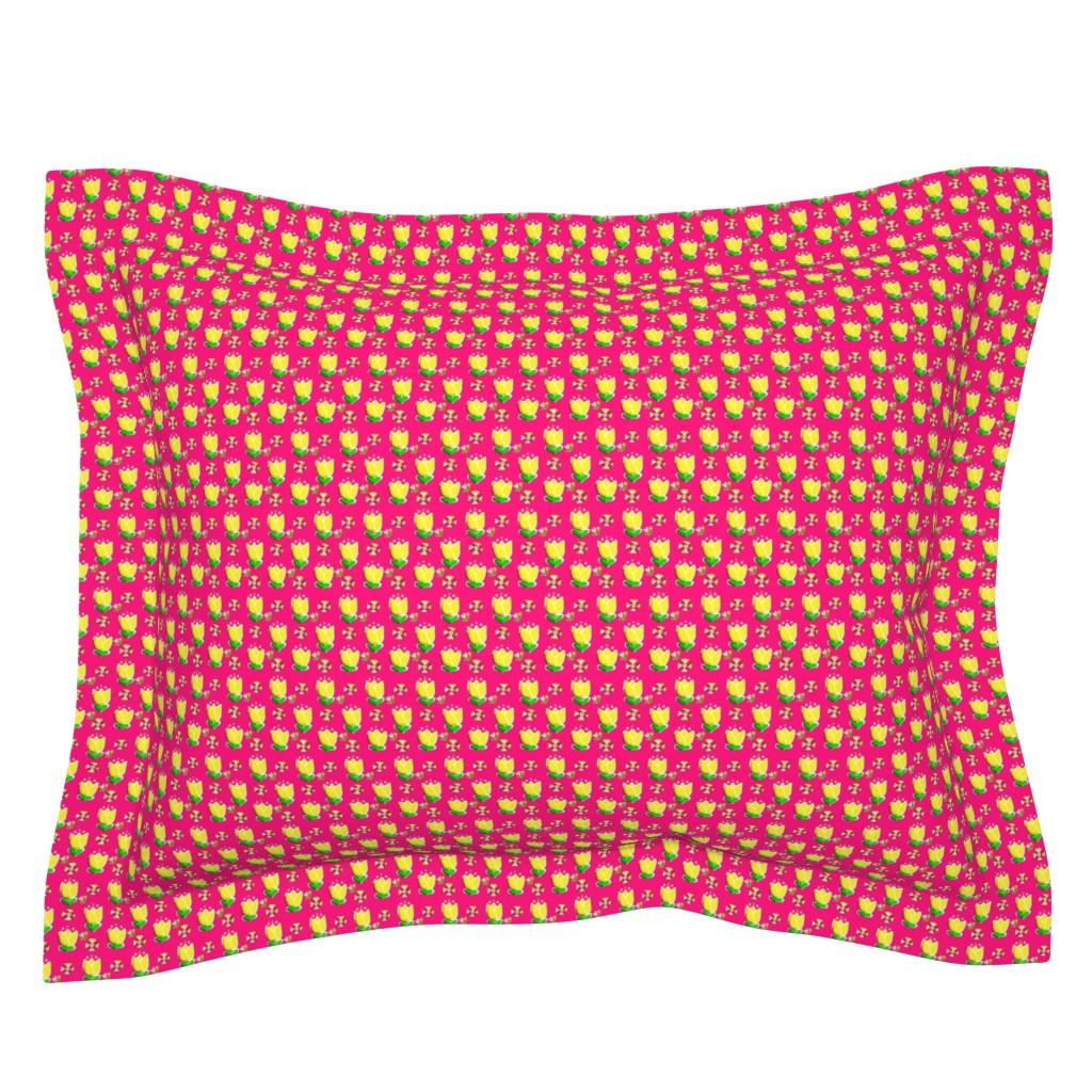 Sebright Pillow Sham featuring Garden Kae -sm by franbail