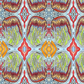 Hello - Ink & Watercolor Mirrored Design